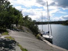 Liegeplatz in einer einsamen Bucht