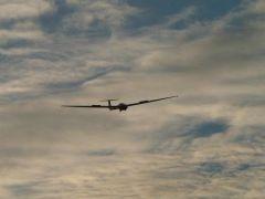 ASK21 D-2991 im Landeanflug