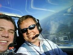 Michi und ich über den Wolken